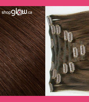 Chocolate Brown Clip-In Hair